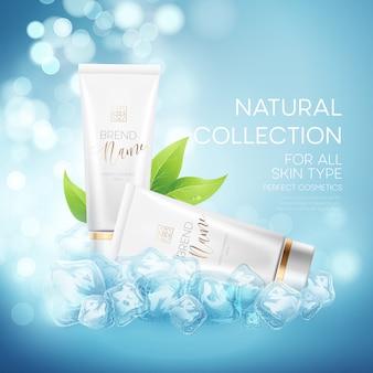 Progetta pubblicità di prodotti cosmetici.