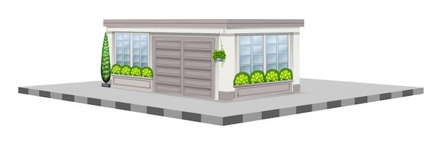 Progettazione 3d per negozio bianco