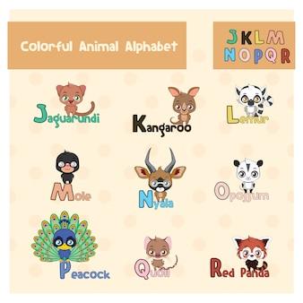 Progettazione alfabeto degli animali