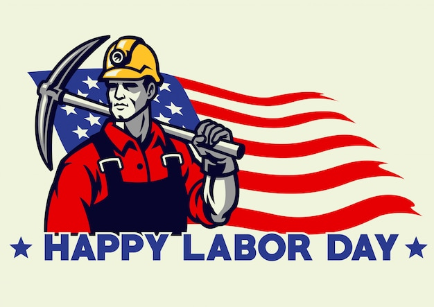 Progettazione americana di festa del lavoro del lavoratore