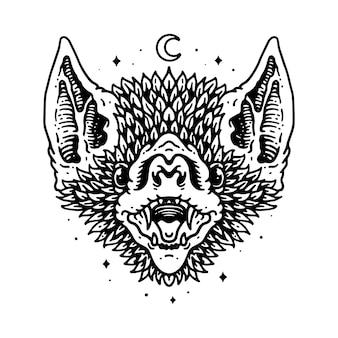 Progettazione animale della maglietta di art owl line graphic illustration vector