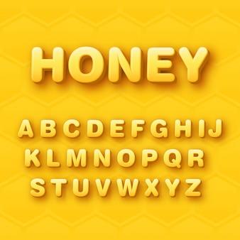 Progettazione arrotondata del carattere di alfabeto 3d