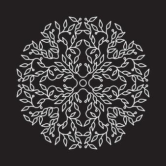 Progettazione astratta di logo di colore bianco, modello isolato su fondo nero