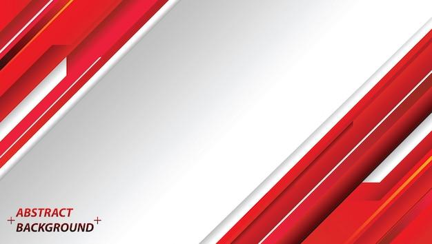 Progettazione astratta di tecnologia di movimento rosso e bianco. sfondo aziendale vettoriale