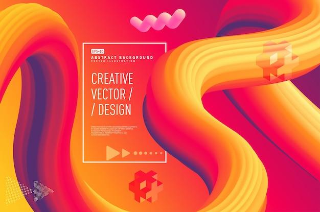 Progettazione astratta liquida del manifesto 3d