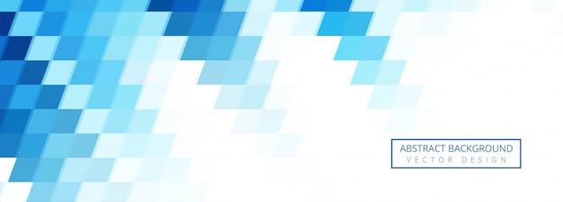 Progettazione blu astratta del fondo di forme geometriche