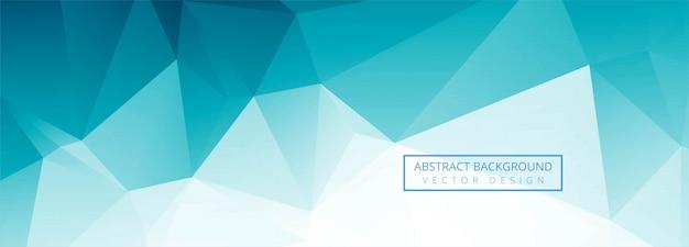 Progettazione blu astratta dell'insegna del poligono