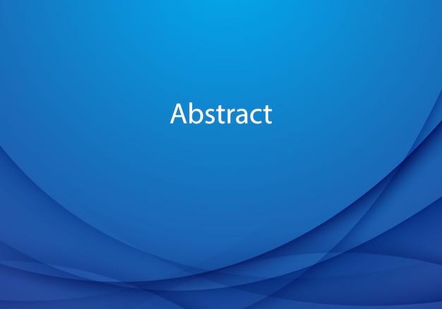 Progettazione blu astratta moderna del fondo dell'onda
