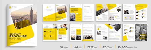 Progettazione brochure aziendale minima, layout modello brochure creativo