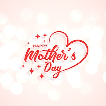 Progettazione creativa del fondo dell'iscrizione di festa della mamma felice