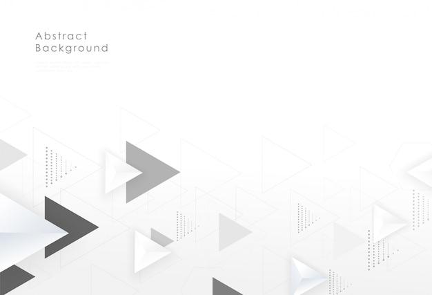 Progettazione creativa del fondo grafico del triangolo geometrico astratto.