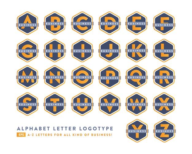 Progettazione creativa del logotipo di affari di alfabeto dalla a alla z.