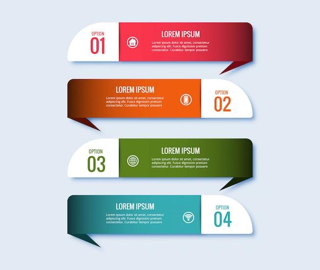 Progettazione creativa dell'insegna di concetto di punti di infographic