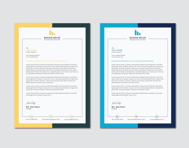 Progettazione creativa della testa della lettera di affari