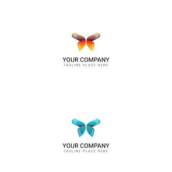 Progettazione creativa di logo della farfalla - vettore