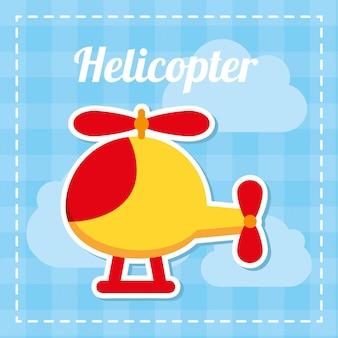 Progettazione del bambino del giocattolo sopra l'illustrazione blu di vettore del fondo