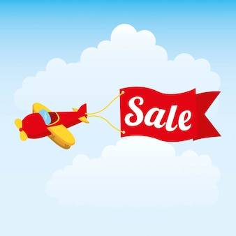 Progettazione del bambino del giocattolo sopra l'illustrazione di vettore del fondo del cielo
