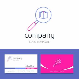 Progettazione del biglietto da visita con il vettore di logo della società delle frecce