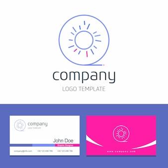 Progettazione del biglietto da visita con il vettore di logo della società di frutti