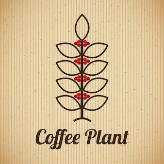 Progettazione del caffè sopra l'illustrazione beige di vettore del fondo