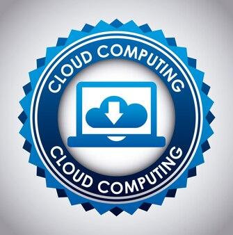 Progettazione del computer su sfondo grigio illustrazione vettoriale