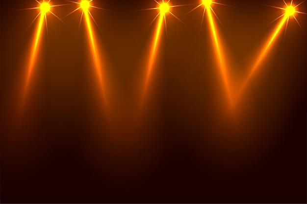 Progettazione del fondo dei riflettori del fuoco del partito di musica