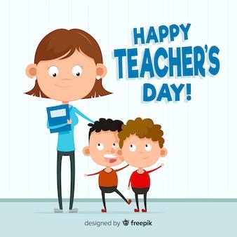Progettazione del fondo del giorno degli insegnanti del mondo