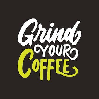 Progettazione del fondo delle citazioni del caffè dell'iscrizione