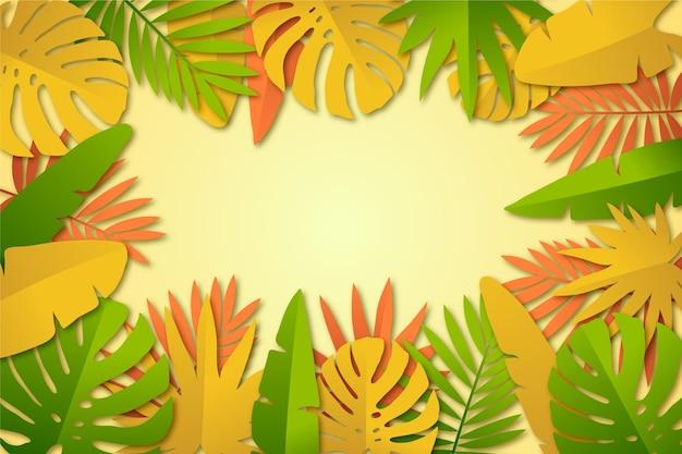 Progettazione del fondo delle foglie tropicali