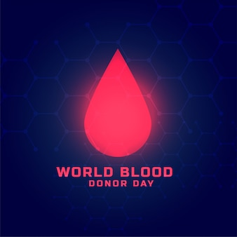 Progettazione del fondo di concetto di giornata mondiale del donatore di sangue