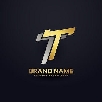 Progettazione del fondo di concetto di marchio lettera t premium