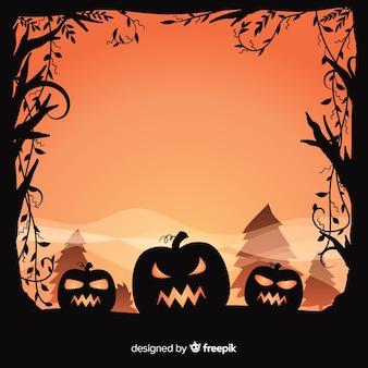 Progettazione del fondo di halloween con le zucche spettrali