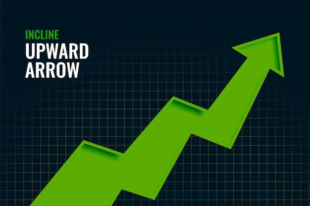 Progettazione del fondo di tendenza della freccia verso l'alto di crescita di pendenza di affari