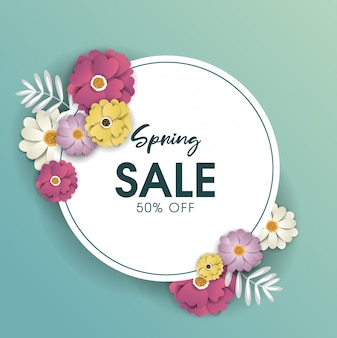 Progettazione del fondo di vendita della primavera