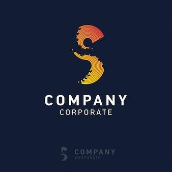 Progettazione del logo aziendale s con biglietto da visita vettoriale