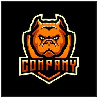 Progettazione del logo bulldog