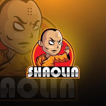Progettazione del logo mascotte di shaolin esport