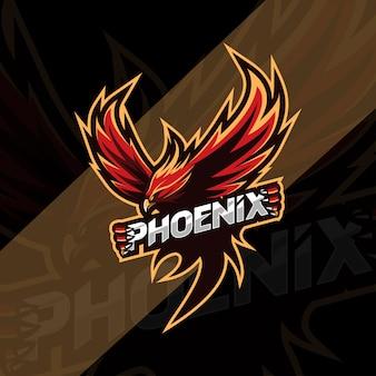 Progettazione del logo mascotte phoenix