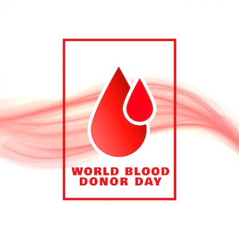 Progettazione del manifesto di concetto di evento di giornata mondiale del donatore di sangue