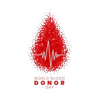 Progettazione del manifesto di concetto di giornata mondiale del donatore di sangue