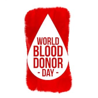 Progettazione del manifesto di concetto di giornata mondiale della donazione di sangue