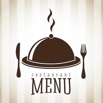 Progettazione del menu sopra l'illustrazione lineare di vettore del fondo
