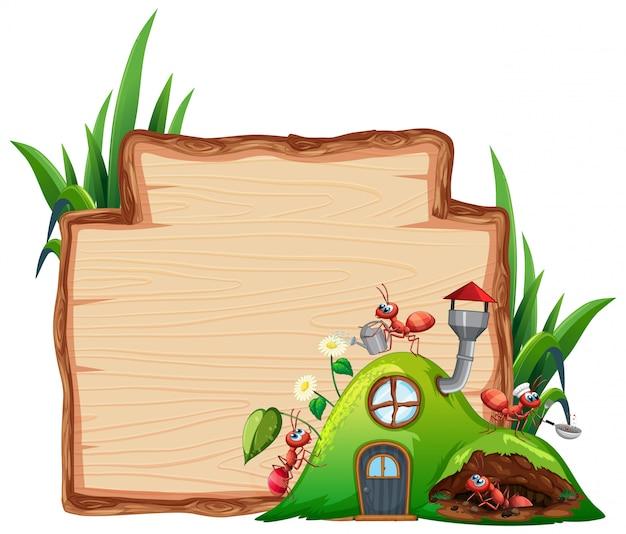 Progettazione del modello del confine con gli insetti nei precedenti del giardino