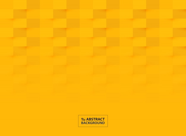 Progettazione del modello del taglio della carta astratta nel fondo giallo vivo di colore.