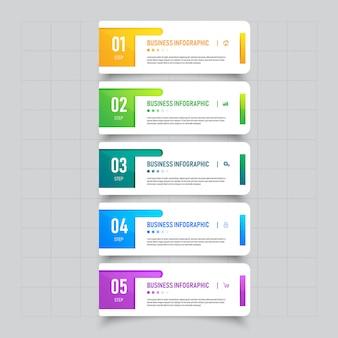Progettazione del modello dell'insegna di affari di infographic.