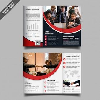 Progettazione del modello dell'opuscolo di tri fold di affari corporativi