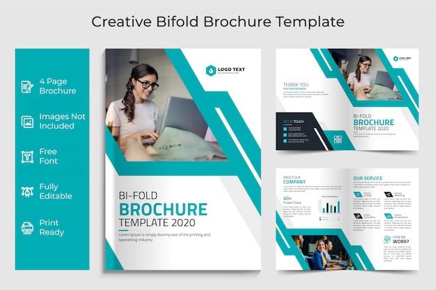 Progettazione del modello dell'opuscolo duplice di affari creativi