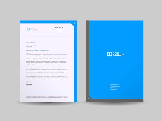 Progettazione del modello della carta intestata di affari corporativi