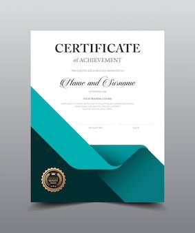 Progettazione del modello della disposizione del certificato, stile di lusso e moderno, materiale illustrativo dell'illustrazione di vettore.