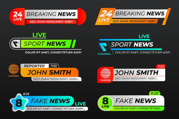 Progettazione del modello delle insegne di ultime notizie